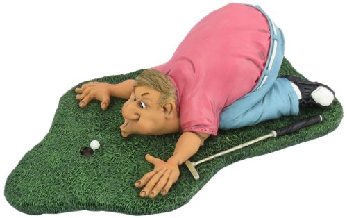 Hi Line Gift 7.5-Inch Tall Warren Stratford Occupations Collectible Figurine, Golfer Blow for Par, Large
