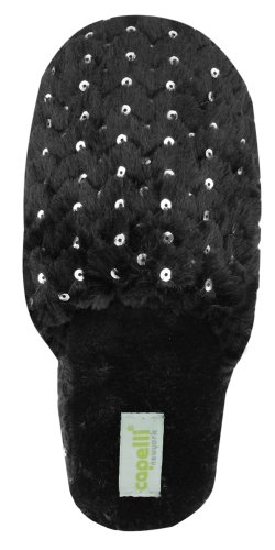Cheap Capelli New York Long Pile With Scuff & Bunny Fur Sock Ladies Indoor Slipper (B005MJYYVU)