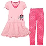 Disney Skating Minnie Mouse Dress and Legging Set