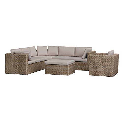 Gartenlounge OUTLIV. Kalahari Loungeset 5-tlg. Geflecht grau, Kissen taupe 712801-862304 kaufen