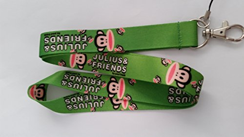 Julius and Friends Lanyard by Paul Frank - Green Paul Frank Key Ring