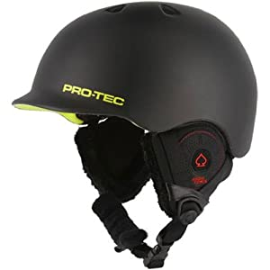 Pro-tec Riot BOA Audio Force Snow Helmet, Matte Black Citrus, XX-Large
