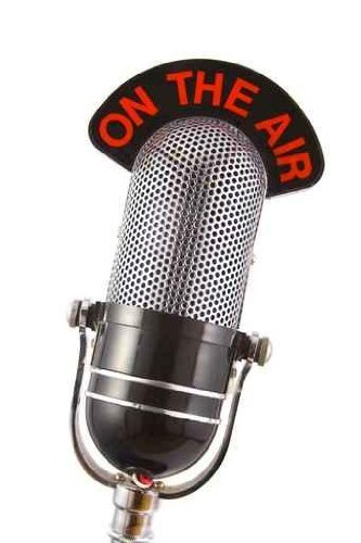 Content Wall Decals Retro Microphone - 24 Inches X 16 Inches - Peel And Stick Removable Graphic