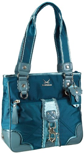 Sansibar Candy Handbag Women green Grün (petrol) Size: 34x33x12 cm (B x H x T)