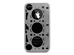ID AMERICA GASKET: Brushed Aluminum Case for iPhone 4 and 4S - Silver (AT&T/Verizon/Sprint)