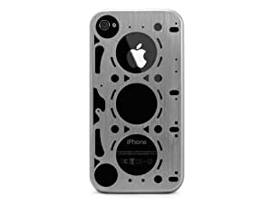 ID AMERICA GASKET: Brushed Aluminum Case for iPhone 4 and 4S - Silver
