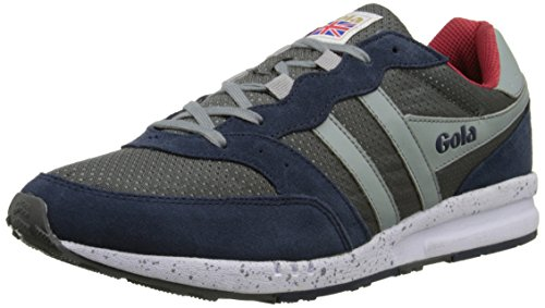 Gola Men's Samurai Fashion Sneaker,Grey/Navy/Light Grey,11 M US