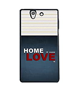 Printvisa 2D Printed Quotes Designer back case cover for Sony Xperia Z - D4487