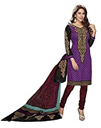 Komal arts Ethnicwear Women's Dress Material(Komal arts_Preyanshi5101_Purple_Free Size)