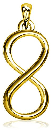 Large infinity symbol charm 9mm in solid polished bronze for Jared jewelry the loop