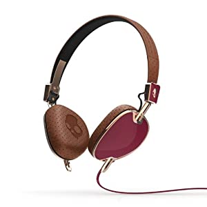 Skullcandy Navigator On-Ear Audio Headphones with Mic - Brown/Copper