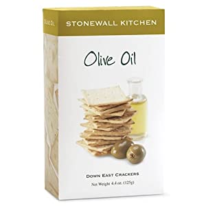 Stonewall Kitchen Olive Oil Crackers, 4.4-Ounce (Pack of 3)