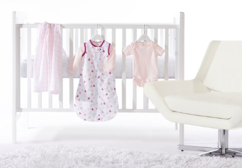 SwaddleDesigns 5 Piece Lightweight Crib Bedding Set, Pastel Pink, 0-6months