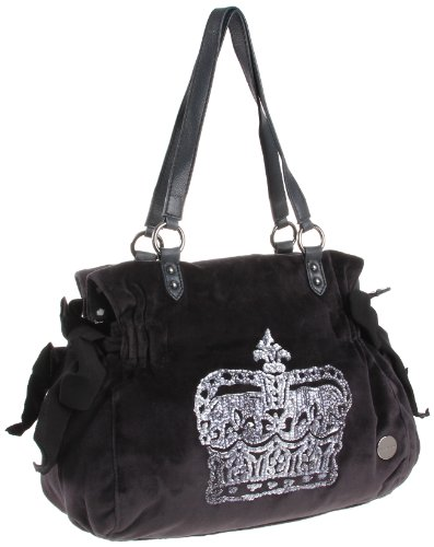 Juicy Couture Crown Velour Ms Daydreamer Handbag Steel Gray