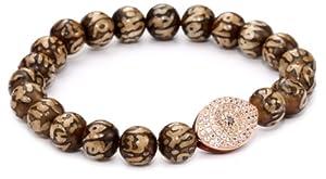 Borgioni Evil Eye and Sanskrit Yak bone Beaded Bracelet