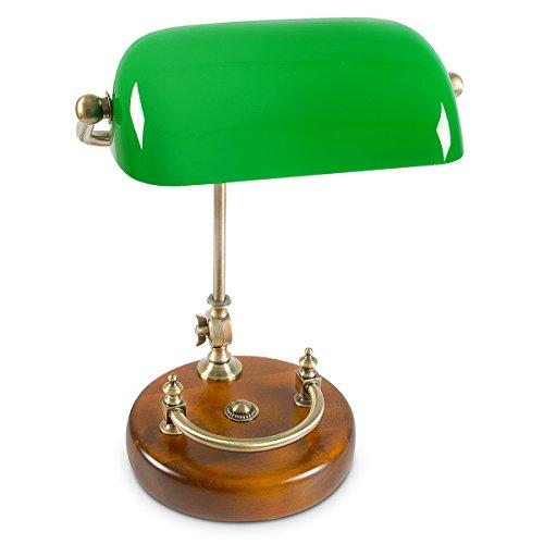 Relaxdays-Bankerlampe-grn-mit-verziertem-Holzfu-Retro-Tischlampe-grne-Schreibtischlampe-Bibliotheksleuchte-Banker-Lampe-im-20er-Jahre-Dekor-Farbe-Grn-Messing-Holz-Mae-H-ca-20-40-cm