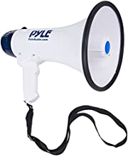 Pyle Bullhorn Megaphone Built-in Rechargeable Battery 10 Second Memory Record Detachable Microphone