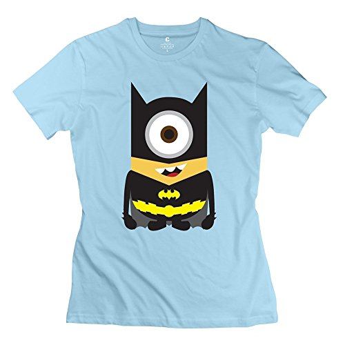 ZHUYOUDAO Women's The Avengers Batman Despicable Me Minions Short-Sleeve T-Shirt