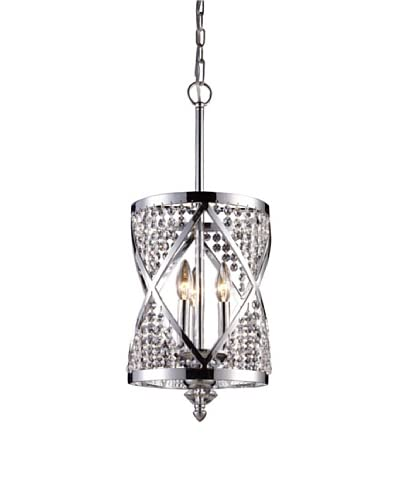 Artistic Lighting Crystoria 3-Light Chandelier, Polished Chrome