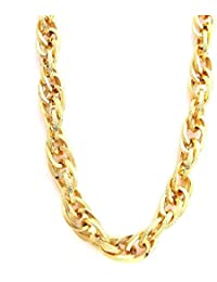 The Jewelbox Gold Plated Italian Multi Link Chain Long 23.5 Inch