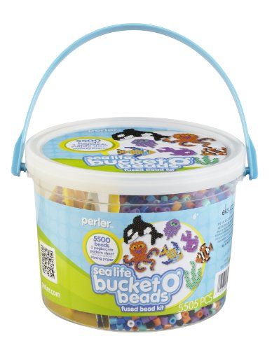Perler Bucket O' Beads Fun Fusion Fuse Bead Kit-Sea Life - 1
