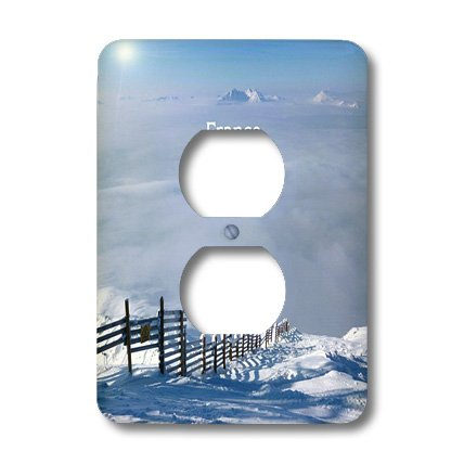 Lsp_200372_6 Florene - France - Print Of Photo Of Alps From France In Winter - Light Switch Covers - 2 Plug Outlet Cover