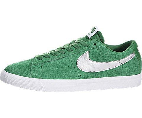 Nike Mens Blazer Low GT Pine Green/Metallic Silver-Wolf Grey Leather Size 12