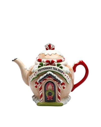 Cosmos Santa's Village Ceramic Teapot