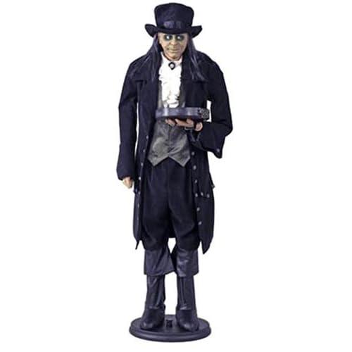 .com : Gemmy 27308 Halloween Edwardian Butler - Black Outfit, 6 Feet