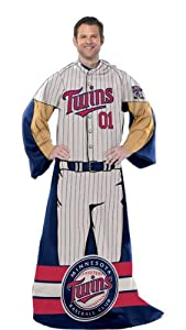 MLB Fleece Comfy Throw MLB Team: Minnesota Twins by Northwest Enterprises