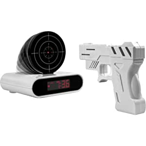 Gun And Target Recordable Alarm Clock by TG