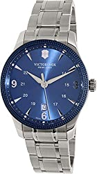 Victorinox Swiss Army Alliance Men's Blue Dial Stainless Steel Swiss Watch - With Knife 241711.1