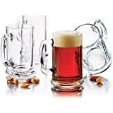 Libbey Brewmaster 15-Ounce Beer Mug 6-Piece Set, Clear