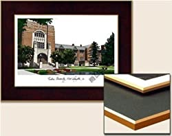 Purdue University Collegiate Laminated Collegiate 18x14 Lithograph
