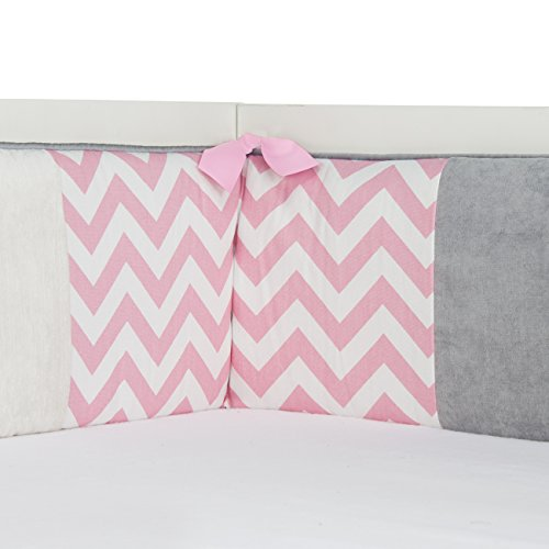 Sweet Potato Swizzle Patched Bumper, Grey/Pink/White