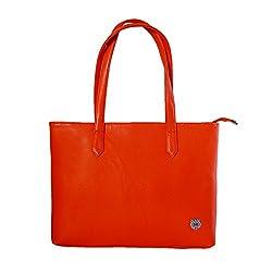 Womaniya Women's Handbag Orange (Woman-223)