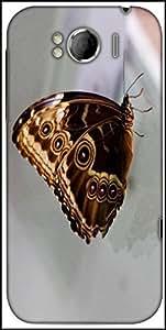 Snoogg Butterfly Blue Morpho Designer Protective Back Case Cover For HTC Sensation Xl