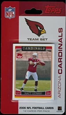 2006 Topps Arizona Cardinals Limited Edition Football Cards Team Set (12 Cards) - Not Available in Packs - Includes Matt Leinart Rookie, JJ Arrington, Kurt Warner, Larry Fitzgerald, Anquan Boldin, Karlos Dansby, Antrel Rolle, and more!