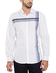 Locomotive Men's Casual Shirt (15110001471381_LMSH010642_S_White)