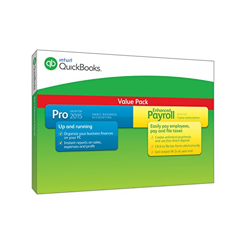 QuickBooks Pro Small Business Accounting Software with Enhanced Payroll 2015