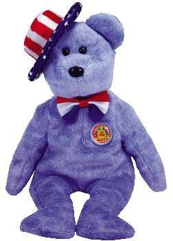 1 X TY Beanie Baby - FOUNDERS the Bear (BBOM July 2005)