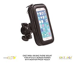 CNCT Waterproof Bike Phone Mount - Phone Holder for BIKE HANDLEBAR - BABY STROLLER - GOLF CART STEERING WHEEL - Suitable for phone upto 5.5