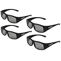 True Depth 3D® Circular Polarized Glasses for Passive Panasonic 3D TVs (ET5 Series) 4 Pairs!