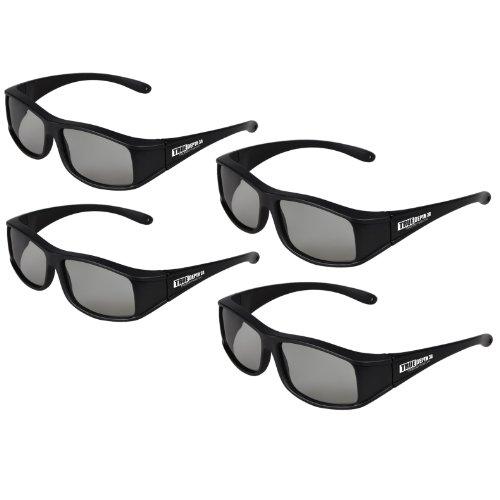 True Depth 3D® Circular Polarized Glasses for Passive Vizio 3D TVs (4 Pairs!)
