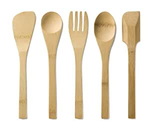 Bambu Kids In The Kitchen Utensil, Set of 5, Natural