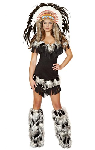 Sexy Fur Fringe Indian Girl Costume