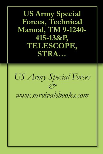 Us Army Special Forces, Technical Manual, Tm 9-1240-415-13&P, Telescope, Straight: M145, (1240-01-411-6350), 2000