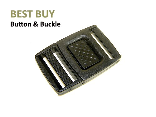 10 pcs Center Release Plastic Buckles 1/2 Inch (13.7 mm)