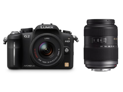 Panasonic Lumix G2 12.1MP Compact System Camera Twin Lens Kit - Black