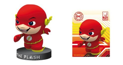 DC Comics Little Mates Flash Figurine And Puff Sticker - 1
